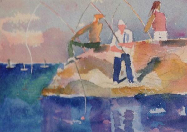 Fishing on the Rocks II